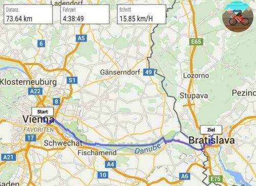 Fahrradtour nach Bratislava